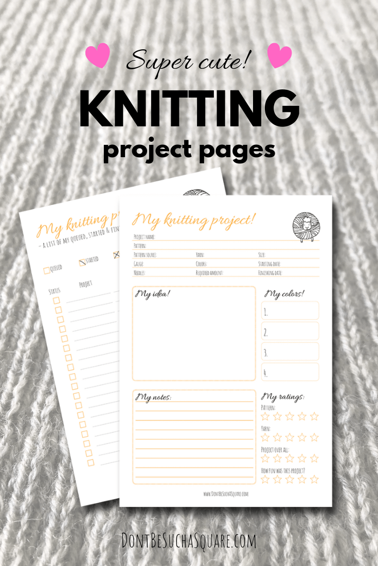 Plan a Knitting Project – Free knitting project pages to get you started on project planing! #ProjectPlaning #KnittingFreebies #KnittingJournal #Knitting