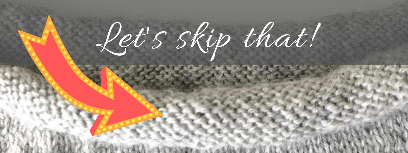 Prevent knits from curling