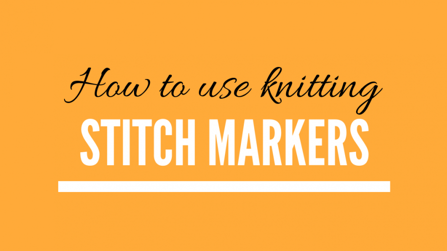 How to use stitch markers in knitting