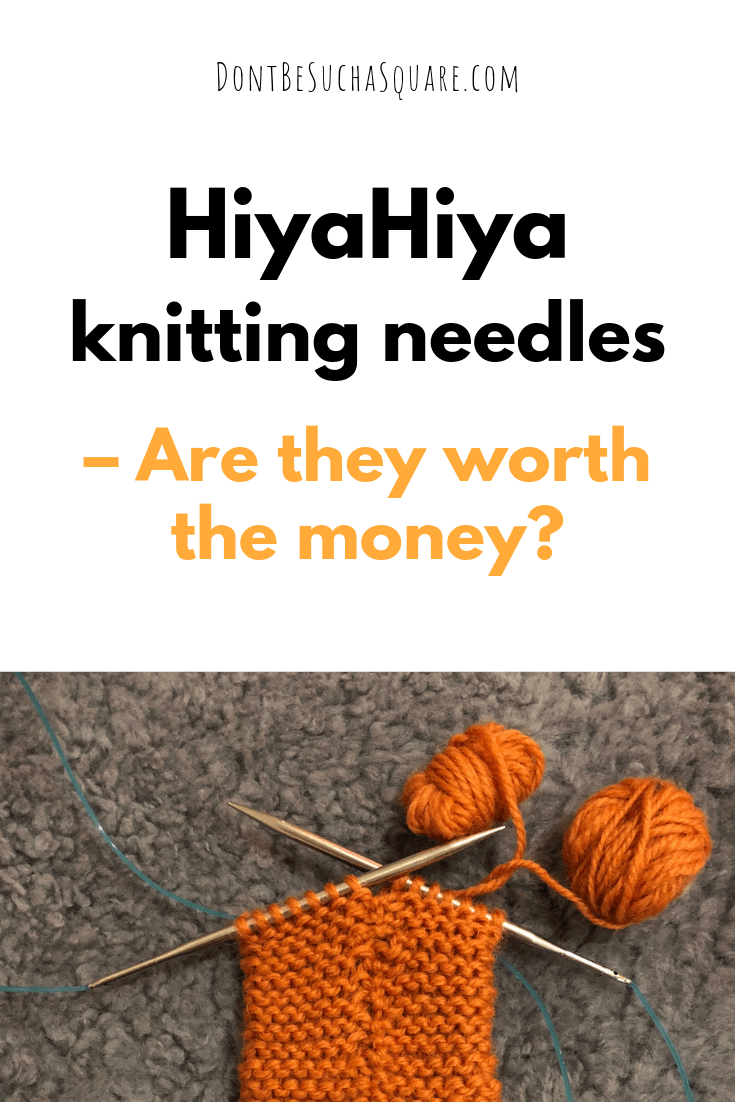 Interchangeable knitting needles. Are HiyaHiya knitting needles worth the money? Please pin this image to Pinterest!