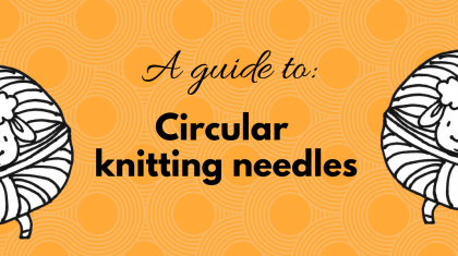 Circular knitting needles for beginners