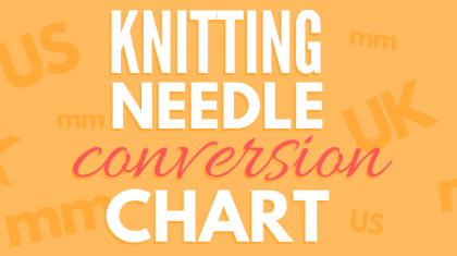 Knitting Needle Sizes Conversion Chart | Needle sizes are a jungle – find the right one with this clear and easy chart from DontBeSuchaSquare.com | #Knitting #KnittingNeedleSizes #Infographic
