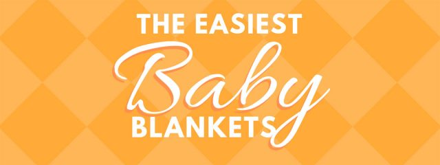 The Easiest Baby Blanket! This post gives you the tools to knit a baby blanket in any yarn – without a pattern! #BabyBlanket #Knitting #BabyBlanketSizes