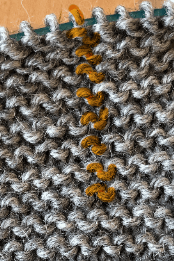 How to count rows in garter stitch