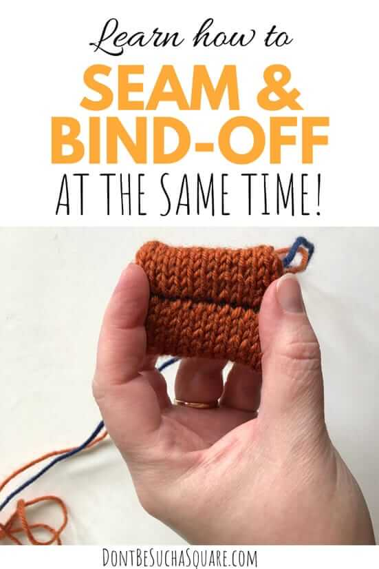 Learn how to Seam & Bind off your knitting at the same time with the three-needle Bind-off! #Knitting #ThreeNeedleBindOff  #BindOff #KnittingHacks