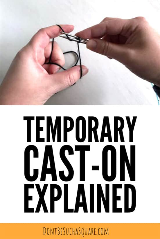 Provisional Cast-ons are temporary cast-ons that's crazy useful. Click to learn more!  #Knitting #Provisionalcast-on #Provisional #Cast-on #temporary #KnittingHack #KnittingTips #LearnToKnit