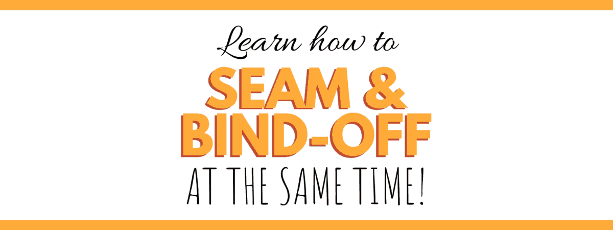 Learn how to Seam & Bind off your knitting at the same time!  #Knitting #ThreeNeedleBindOff  #BindOff #KnittingHacks