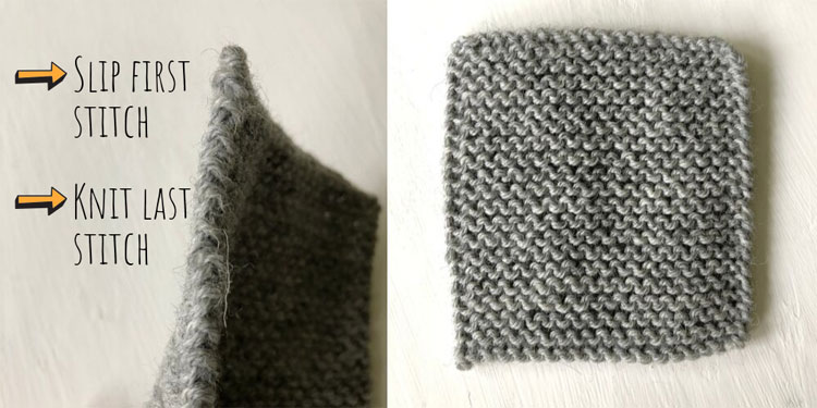 Knitting neat edges – slipping stitches