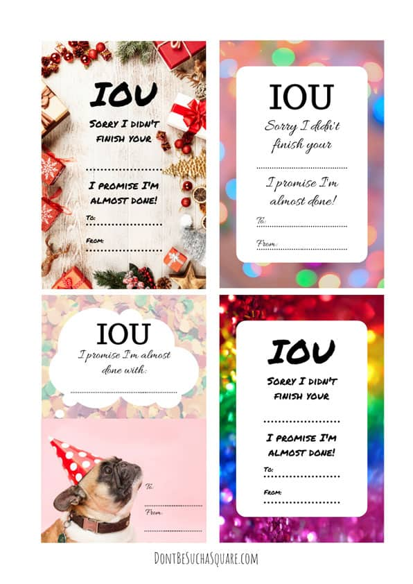 IOU-coupons for knitters | Knitting takes time, sometimes more time and you have. That's a boomer! But with this IOU-coupons you can turn a miscue to your advantage! Click to learn how and get the coupons! #IOU-coupons #Printable #KnittedGifts #HandmadeGifts