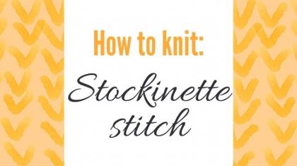 Stockinette-stitch-top