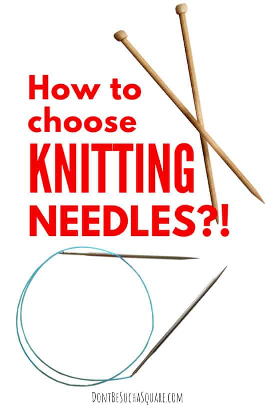 All about knitting needles – the different styles and materials and their pros and cons. #KnittingNeedles #knitting