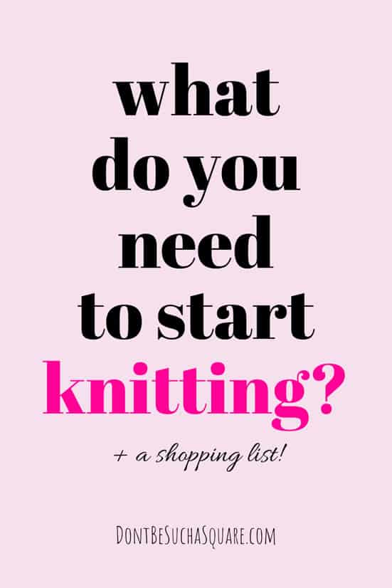 What do you need to start knitting? Five supplies is all you need to get started, and I bet you already have some of them around your house! #Knitting #KnittingTools #KnittingSupplies