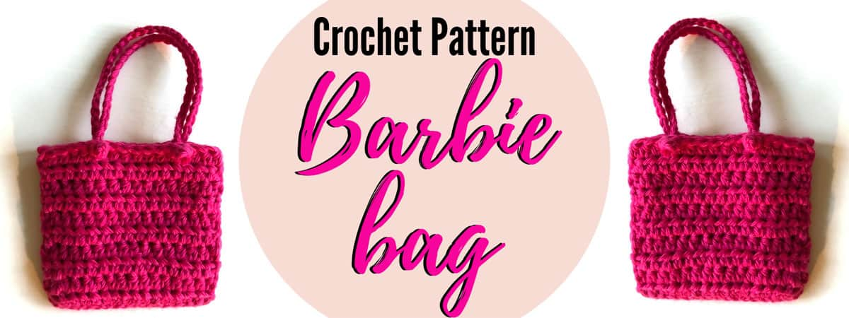Barbie Crochet Beach Bag Pattern   Crochet this cute and super easy bag for Barbie to carry her things in when going to the beach! Free printable pdf pattern.