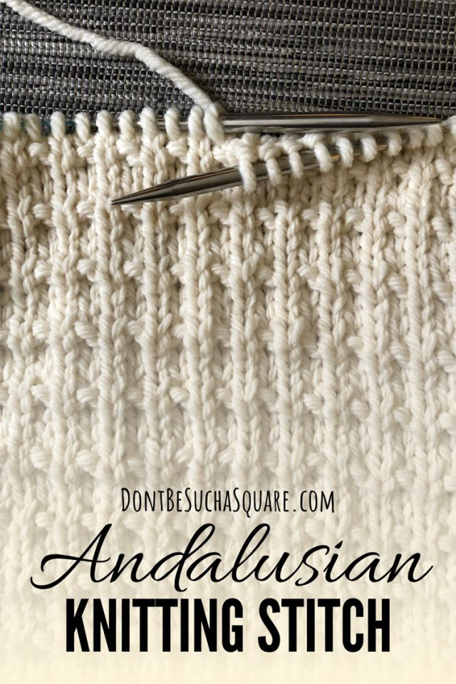How to knit the andalusian knitting stitch