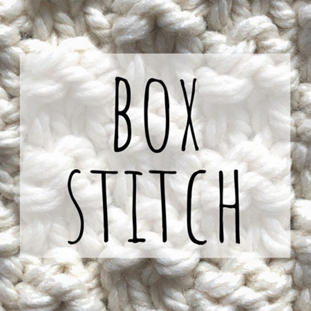 Box stitch knitting pattern