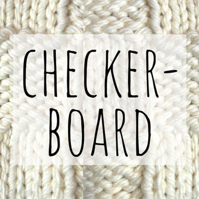 checker board knitting stitch pattern