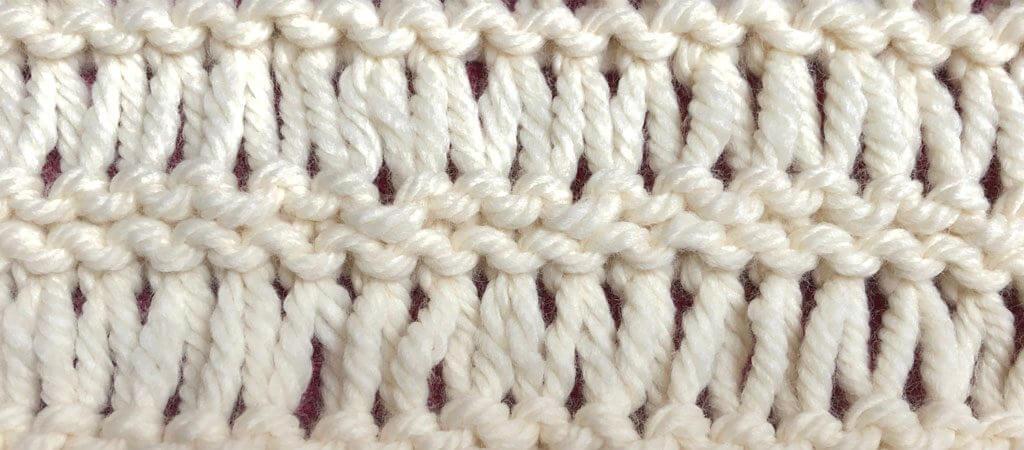double yarn over garter stitch