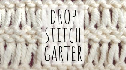 Drop stitch garter