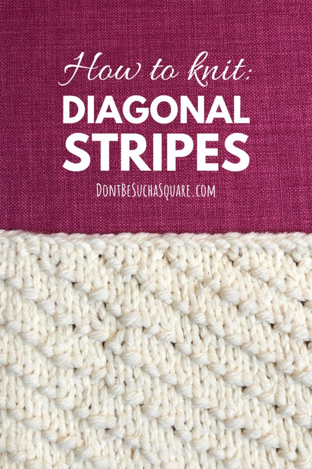 How to knit diagonal stripes