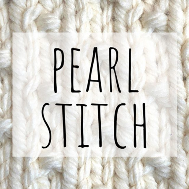 Pearl stitch knitting pattern