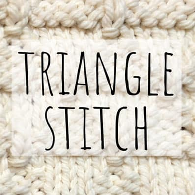 Triangle stitch knitting pattern