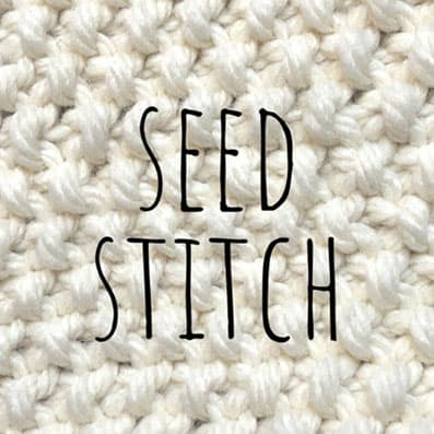 Seed stitch knitting pattern