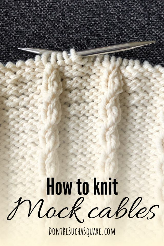 An ongoing knitting project featuring mock cables
