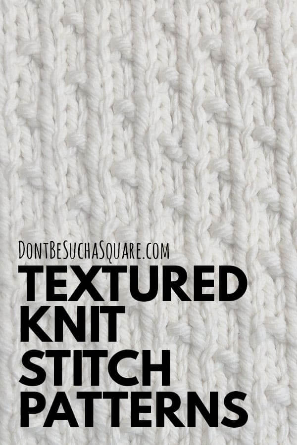 Knit and purl knitting stitch patterns library