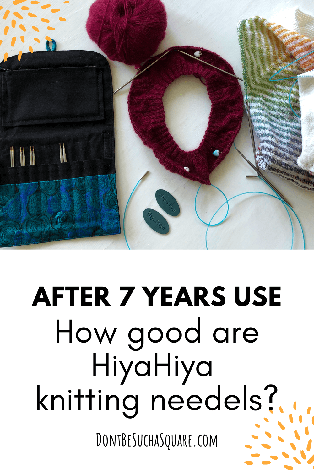 Review: HiyaHiya Interchangeable Knitting needle set. I have been knitting with this set of needles since 2014 (that's over 7 years!)