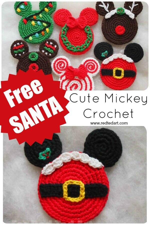 Crochet santa mickey