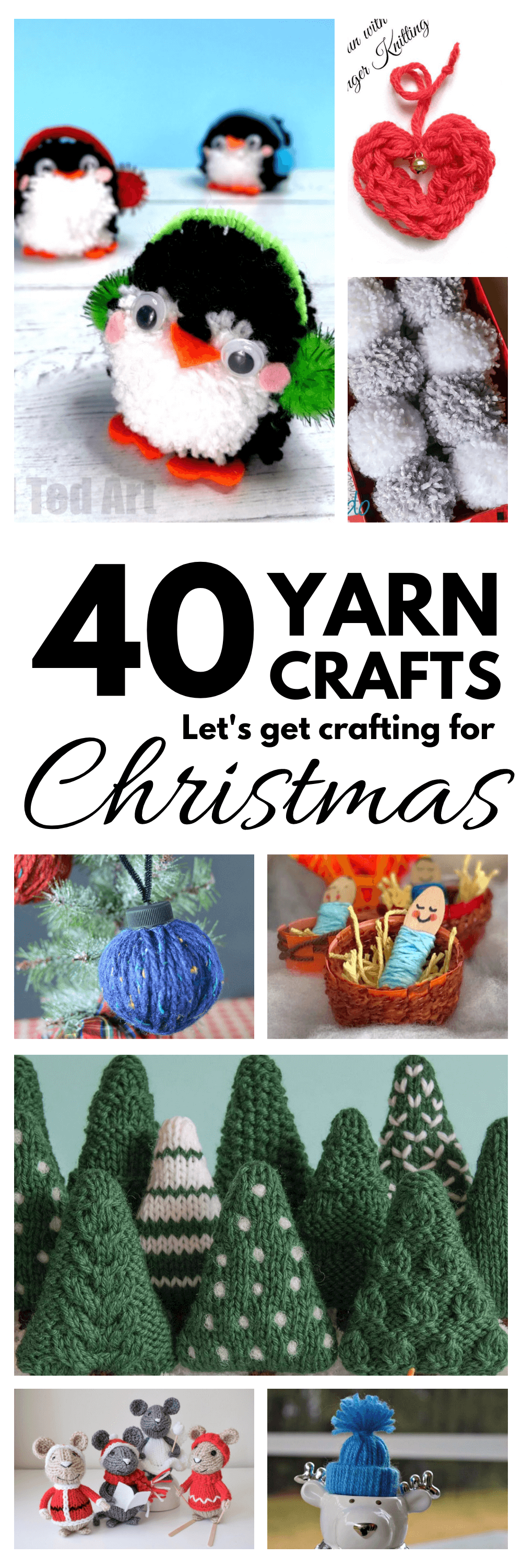 Christmas Yarn Crafts – 40 crafts to make!