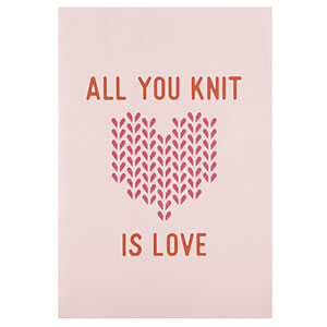 All you knit is love, that's true! A journal for knitters with some resource pages as well
