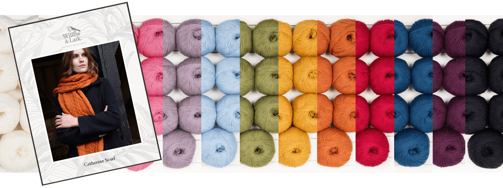 Catherine Scarf knit kit in 100% beautifully soft merino