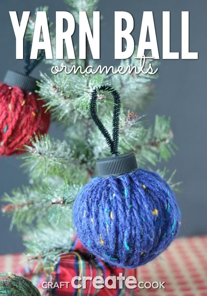 Christmas yarn craft ball ornament