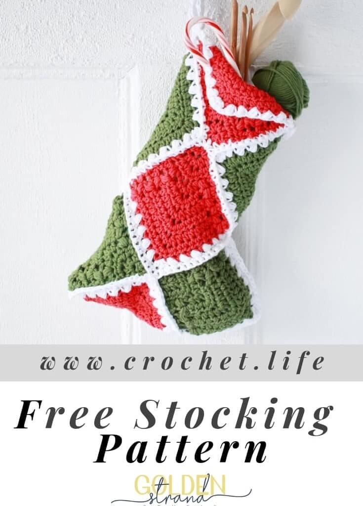 A crochet christmas stocking
