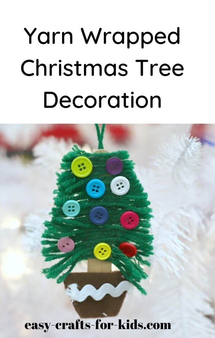 Christmas yarn craft for kids and adults, a cute little Christmas tree