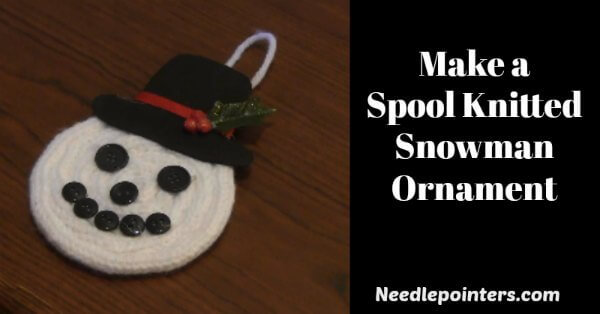 Spool knitted snowman