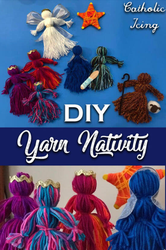 diy yarn doll nativity scene