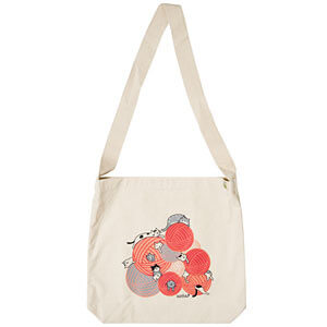 This cute yarnpile canvas totebag from KnitPicks would make a catloving knitter very happy!