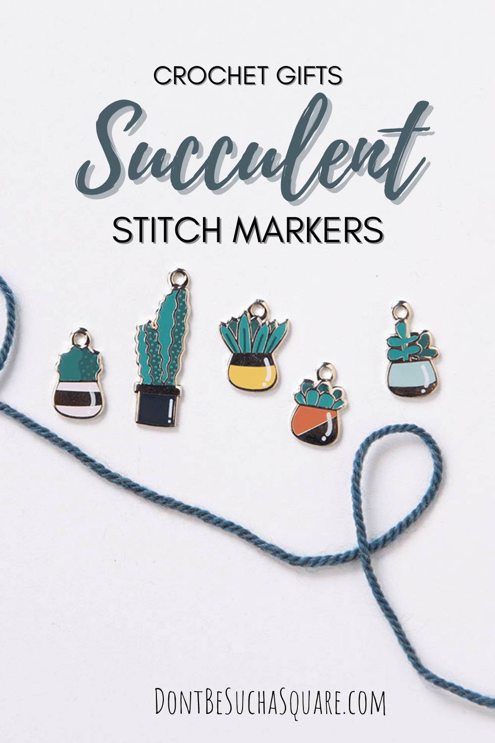 gifts for crocheters succulent stitch markers