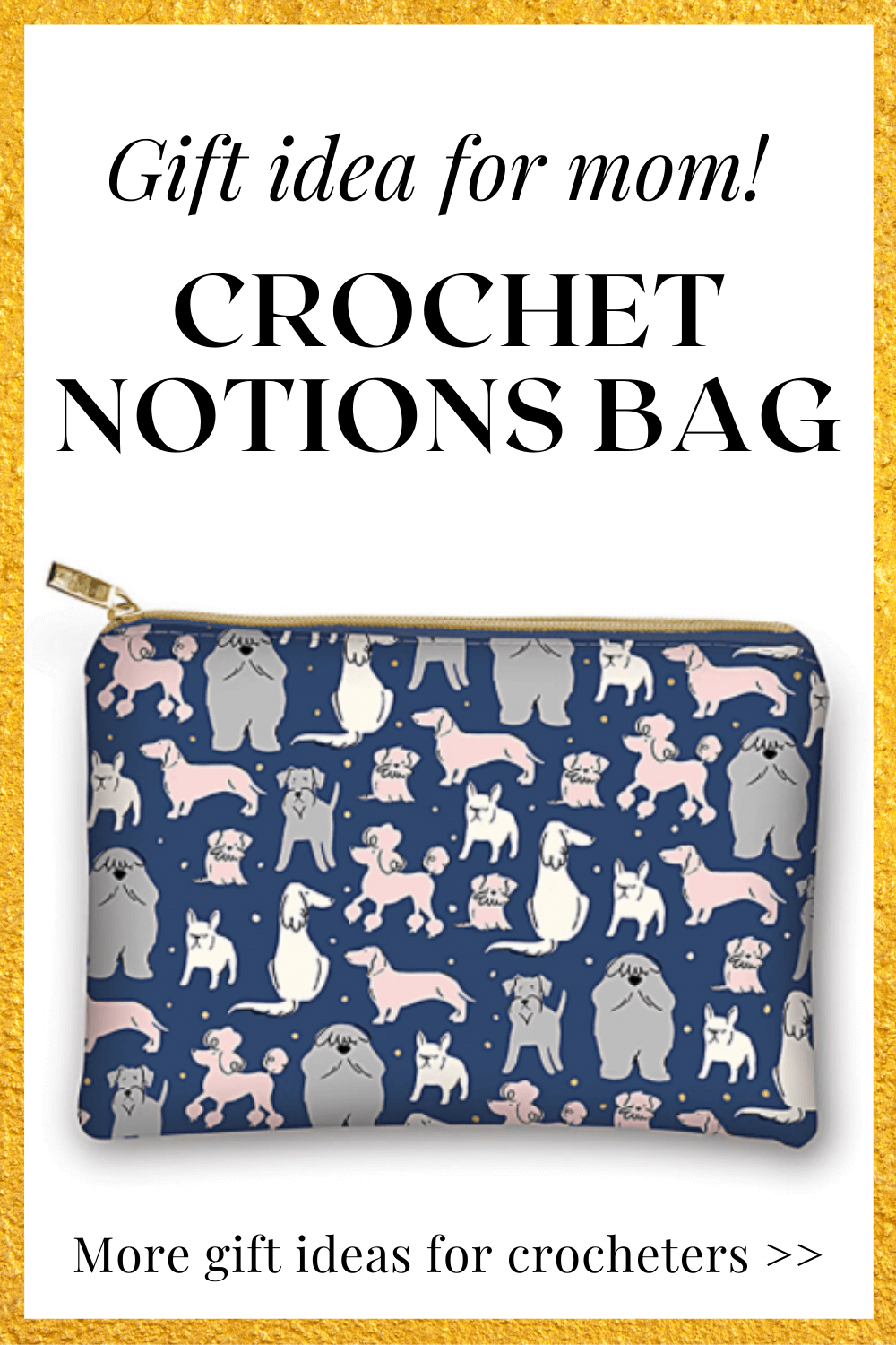 This cute pouch for notions is a perfect gift idea for your crocheting mom