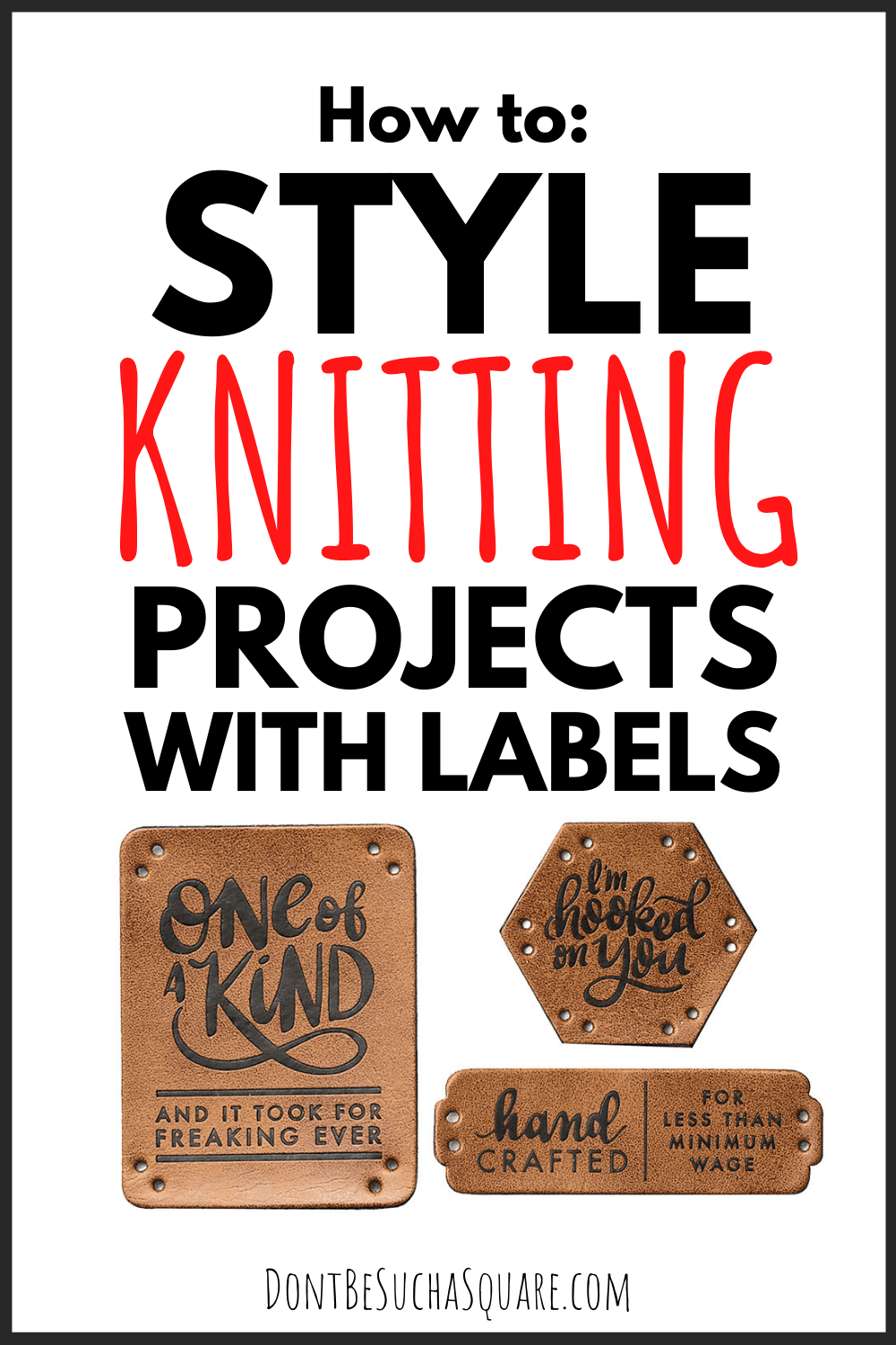 How to style knitting projects with labels