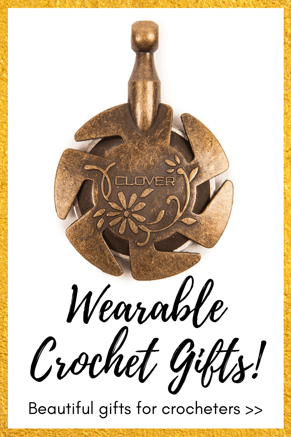 A yarn cutter pendant is included in this list of the best gifts for crocheters