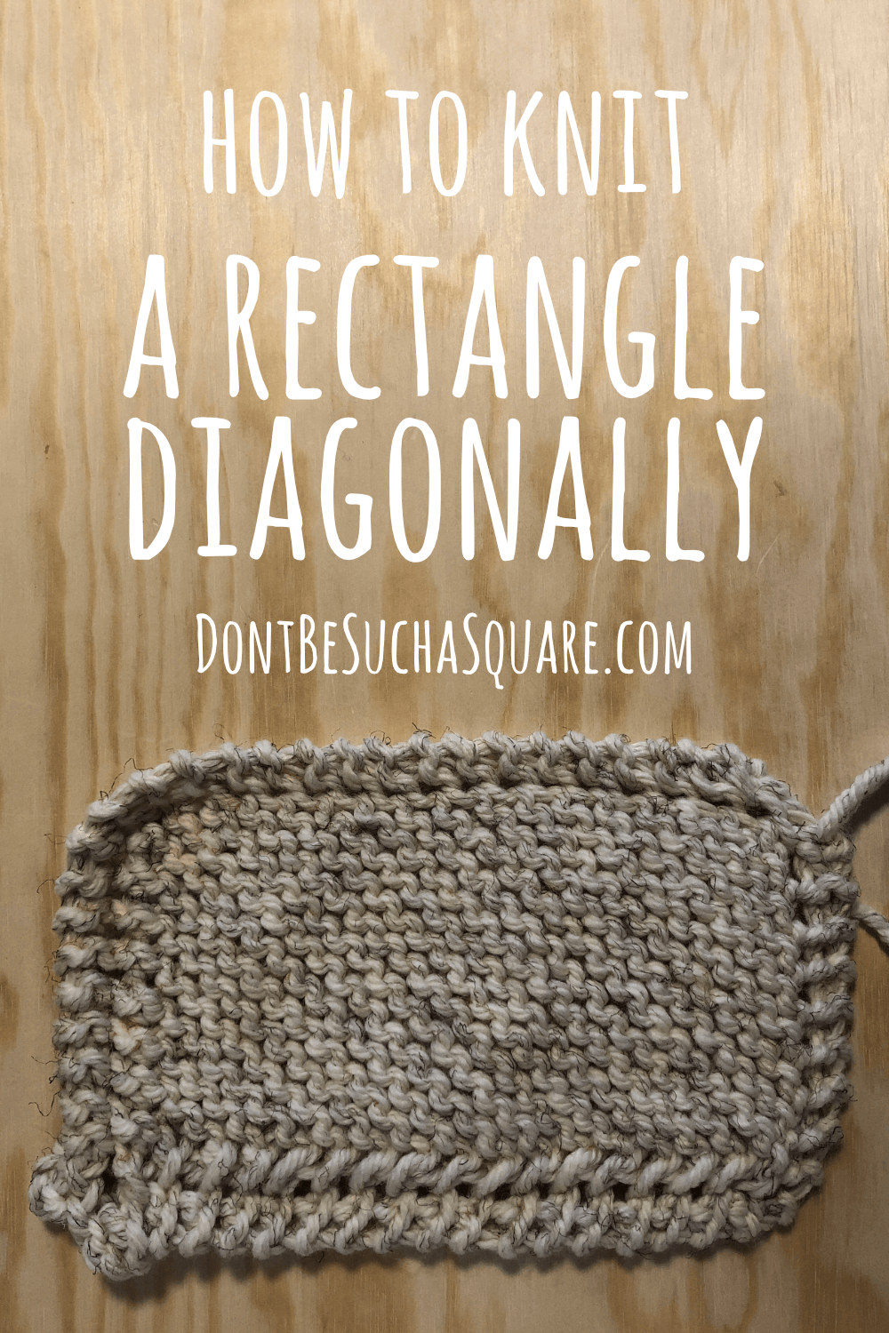 How to knit a diagonal rectangle