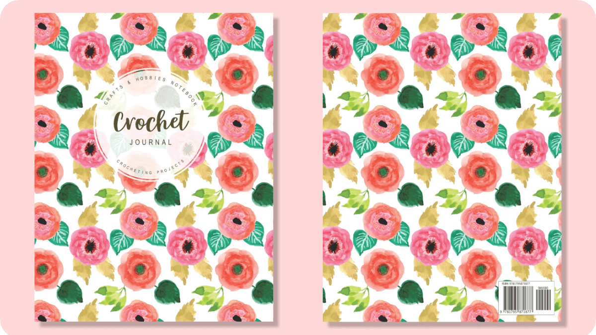 Pretty Floral crochet planner