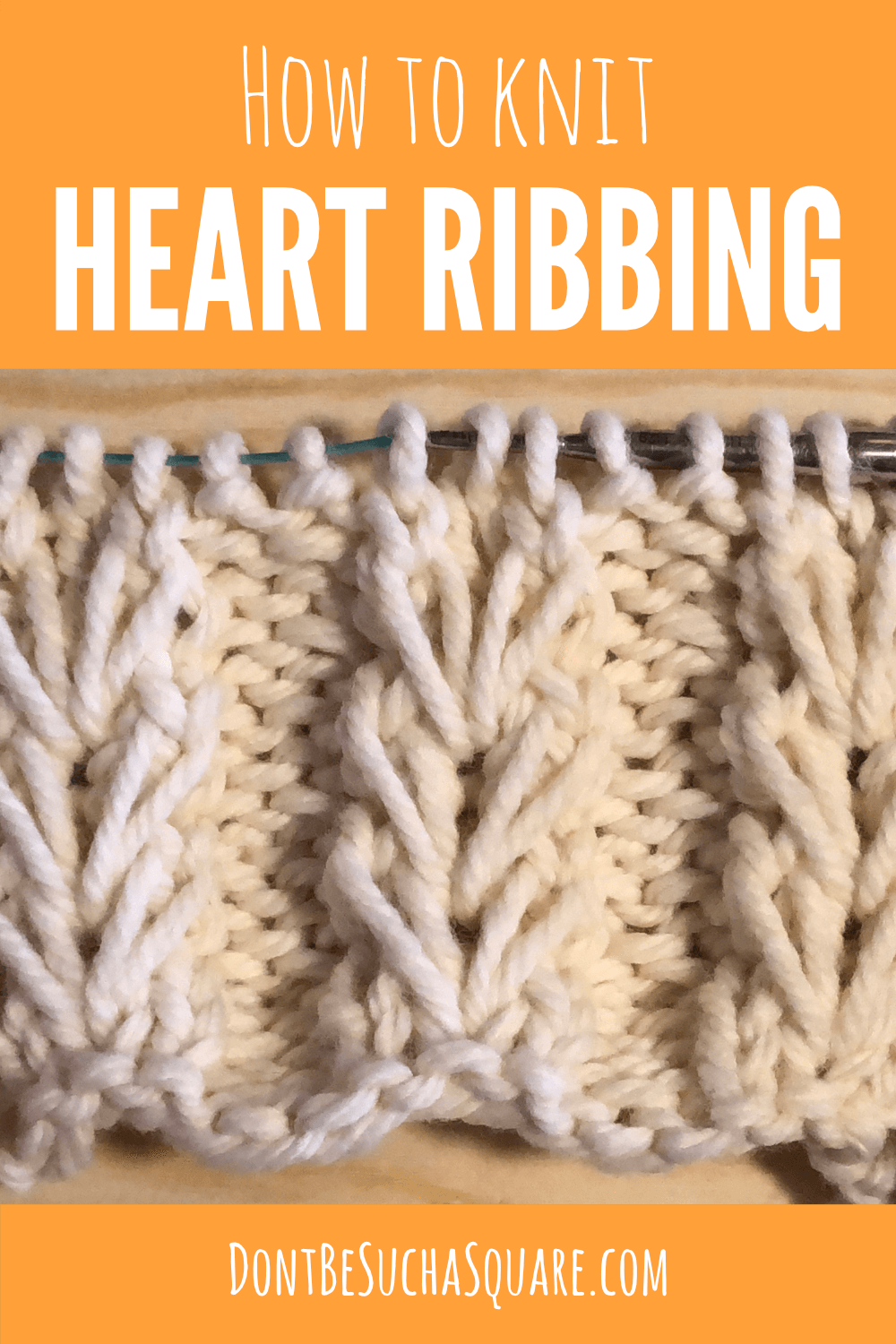 how to knit heart ribbing
