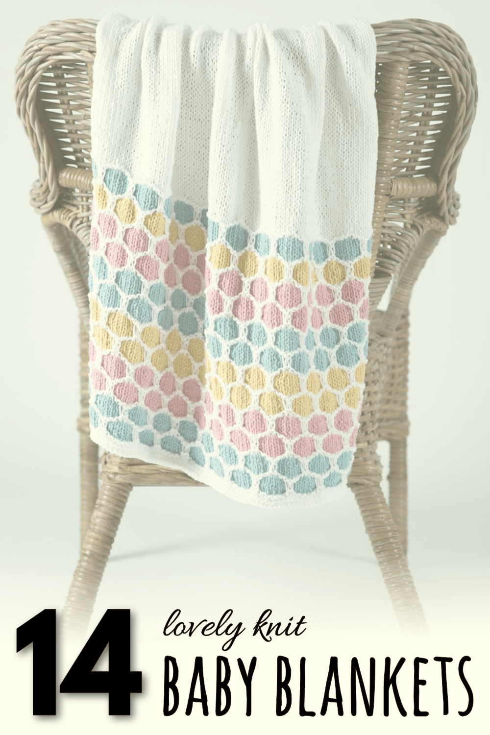 a list of 14 beginner friendly baby blanket knitting patterns. Com on over and dive in! #knitting #knittingpatterns #baby #blanket #beginner #easy