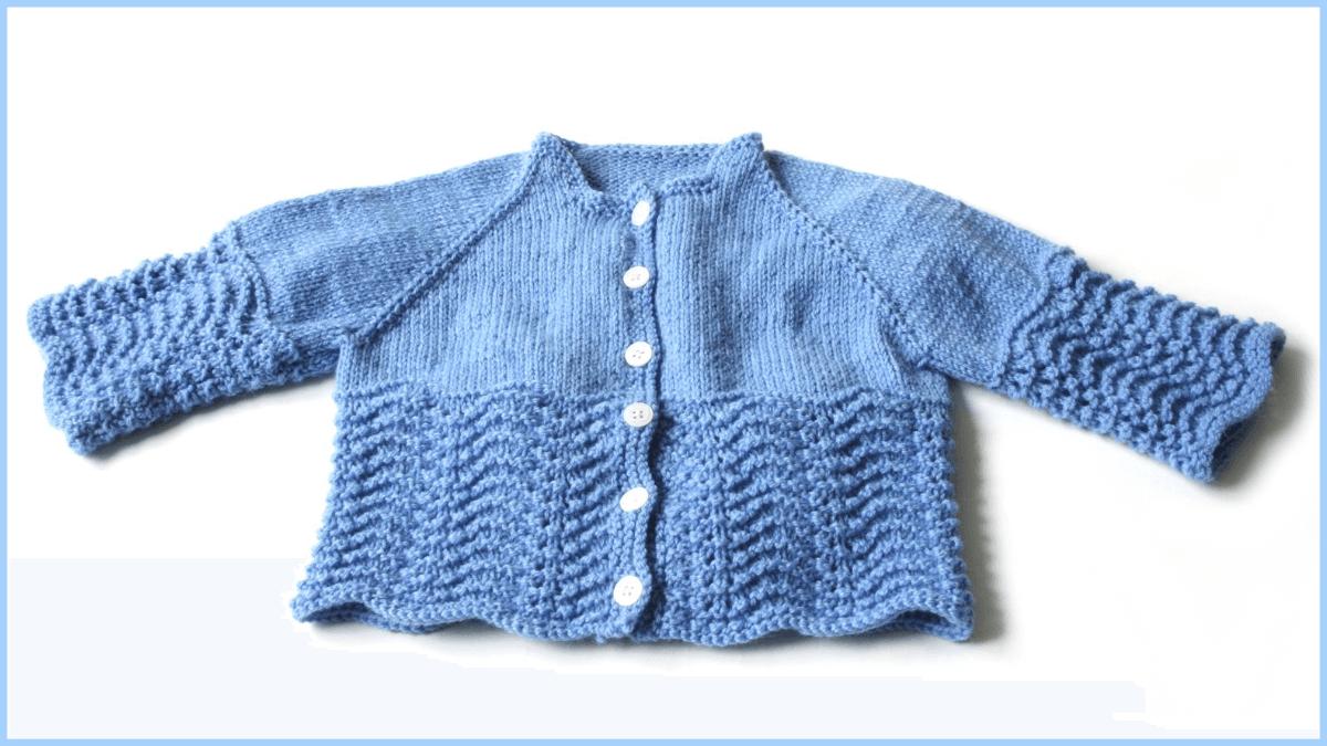 Modèle de tricot gratuit : Cardigan bébé nouveau-né