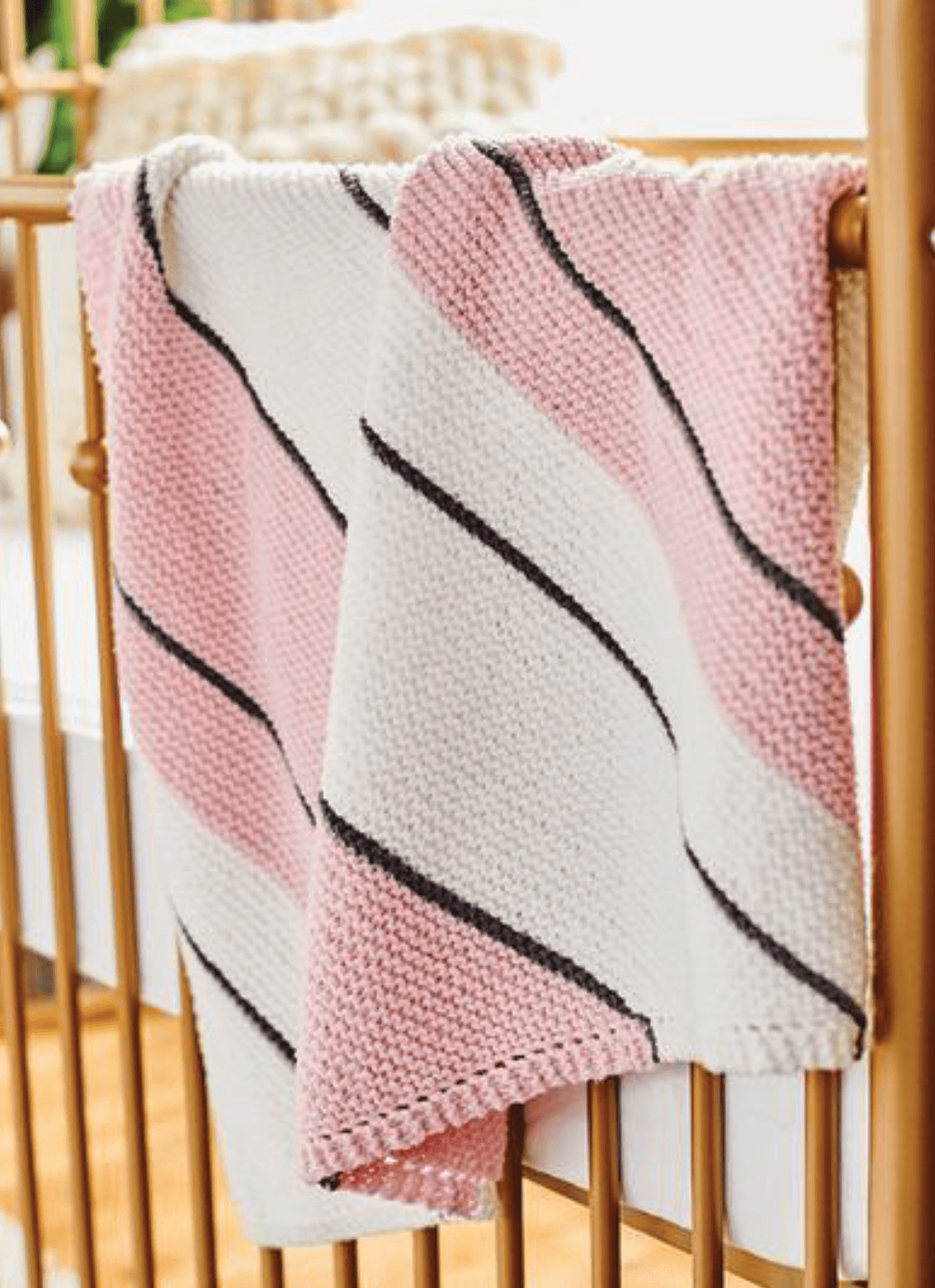 I wanna knit a baby blanket knitting patter