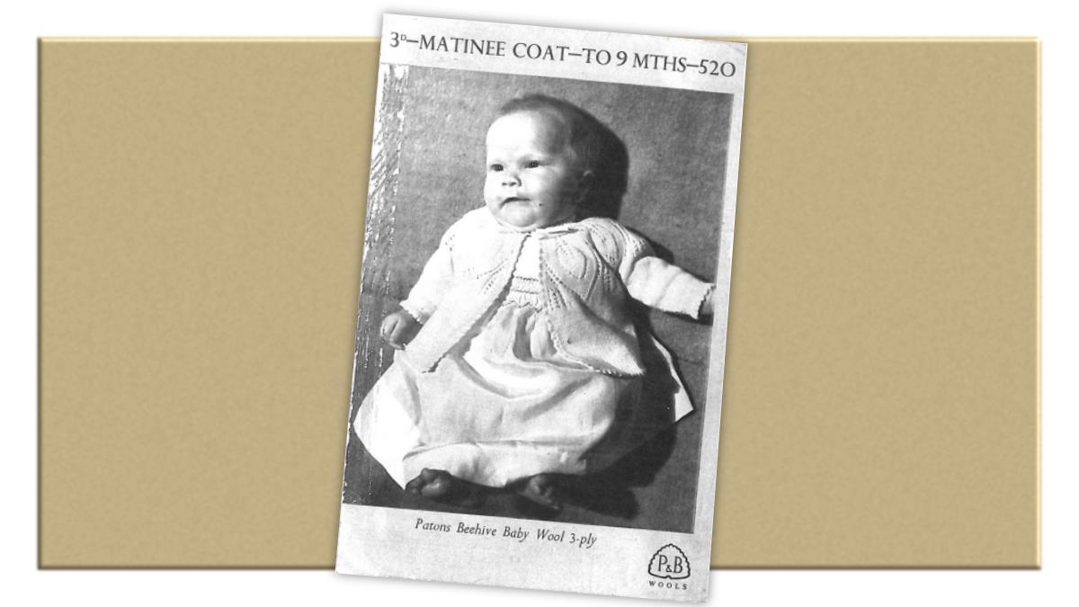 Vintage matinee coat knitting pattern